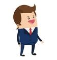 cute businessman cartoon icon vector image