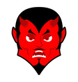 Evil Devil Angered by Satan Red Demon furious vector image