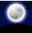 Background with moon vector image