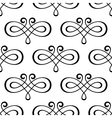 Abstract calligraphic swirls seamless pattern vector image vector image