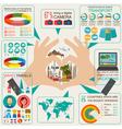 Travel Vacations Beach resort infographics vector image