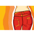 fashion jeans background vector image vector image