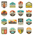 Vintage logos and badges vector image