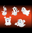 funny ghosts vector image