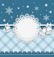card for Christmas and New Year vector image