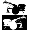 power tillers vector image