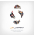 concentration people sign 3d vector image vector image