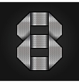 Number metal chrome ribbon - 8 - eight vector image