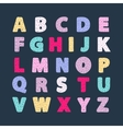 Alphabet creative abc vector image