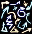 arrows sketch design template vector image