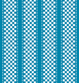Blue and white checkered abstract background vector image