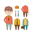 Different Outfits Construction Set vector image