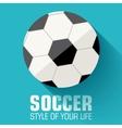 Flat sport soccer background concept design vector image