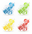 Four seasonal floral colorful set isolated vector image
