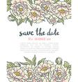 vintage floral wedding invitation Pink roses and vector image