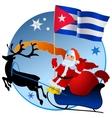 Merry Christmas Cuba vector image vector image
