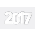 Happy 2017 new year paper vector image