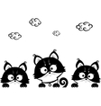 kittens three vector image