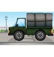 Cartoon big truck vector image vector image