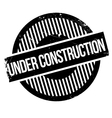 Under construction rubber stamp vector image