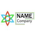 company logo hexagon flower vector image