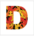 D Letter vector image vector image