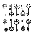 Set of isolated graphical retro keys vector image vector image