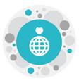 of love symbol on globe icon vector image