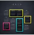 Calendar 2015 Year vector image vector image