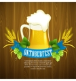 Oktoberfest Background with Beer Poster template vector image