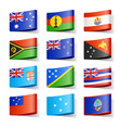 oceania flags vector image vector image