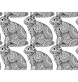 Seamless pattern with hand drawn graphic ornate vector image