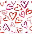 abstract seamless background watercolors heart vector image