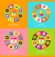 easter greetings concepts vector image