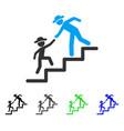 gentleman education steps flat icon vector image