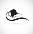 image of an border collie dog vector image