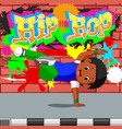 kids dancing hip hop vector image