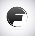 Logo for letter F vector image