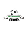 logo soccer championship vector image