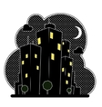 night city houses vector image