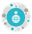 of love symbol on globe icon vector image
