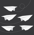 Origami folded paper planes collection vector image