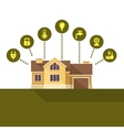 Smart House Technology Infographic Flat Style vector image