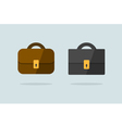 Two briefcase icons flat design vector image