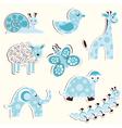 Set of fun zoo for a boy vector image vector image