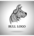 Bull logo template for sport teams vector image