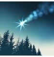 Christmas greeting card invitation Shooting star vector image