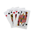 combination of playing cards poker casino vector image