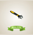 realistic spanner element of vector image