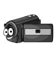 Happy cartoon video camera vector image